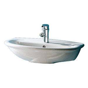 Karla White 450 Wall-Hung Basin with One Faucet Hole