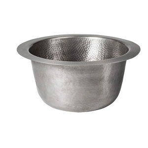 Turner Pewter 16-Inch Round Bar Sink