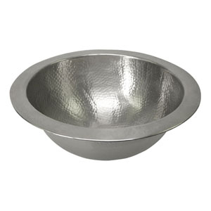 Hammered Pewter 12-Inch Round Undermount Bathroom Sink