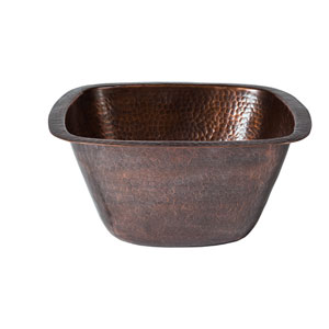 Symone Antique Copper 13-Inch Square Bar Sink