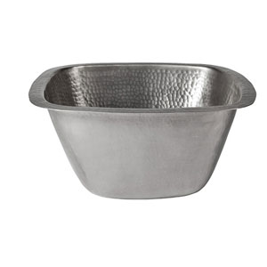 Symone Pewter 13-Inch Square Bar Sink