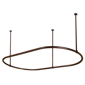 48-Inch Oil Rubbed Bronze Oval Shower Curtain Ring