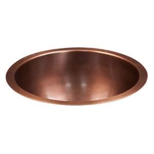 Drios Smooth Antique Copper 18 Inch Deep Round Sink