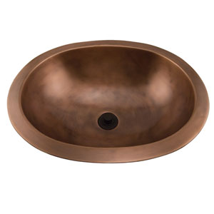 Finn Smooth Antique Copper 19-Inch Oval Sink