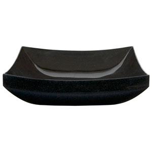 Mornos Polished Black Curved Square Granite Vessel