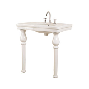 Milano Bisque 8-Inch Spread Console Sink with Stand