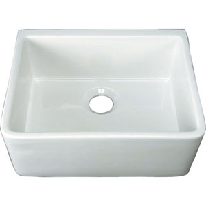 24-Inch White Farmer Sink