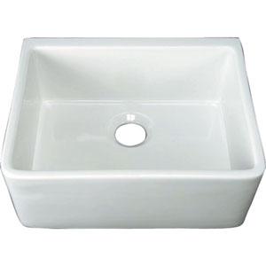 24-Inch White Farmer Sink