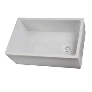 30-Inch White Farmer Sink