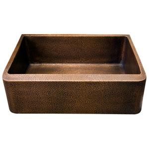 Avena Antique Copper 25-Inch Single Bowl Farmer Sink