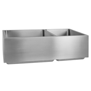 Coriander Stainless Steel 33-Inch 60/40 Double Bowl Farmer Sink