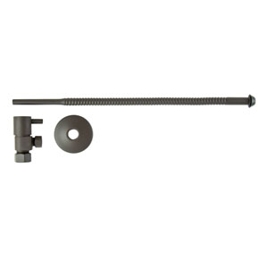 Oil Rubbed Bronze Lever Handles Toilet Supply Kit with Tube
