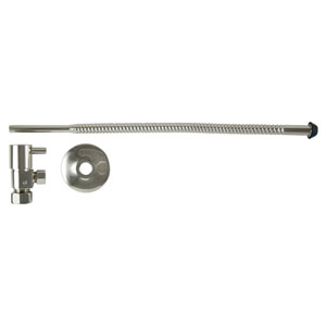 Polished Nickel Lever Handles Toilet Supply Kit with Tube