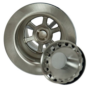 Brushed Stainless Bar Sink Strainer