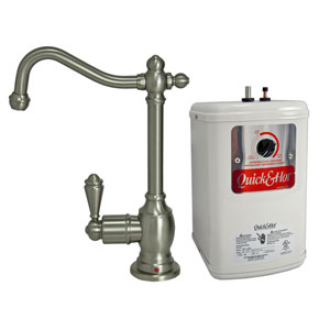 Brushed Nickel Hot Water Dispenser with Heating Tank