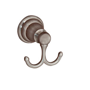 Sherlene Satin Nickel Double Robe Hook
