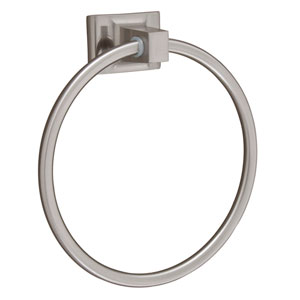 Hennessey Satin Nickel Towel Ring