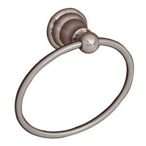 Sherlene Satin Nickel Towel Ring