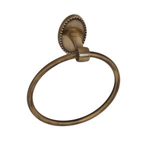 Cordelia Antique Brass Towel Ring