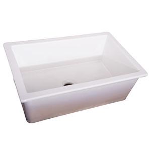 Sheila 32 Inch Undercounter Kitchen Sink White