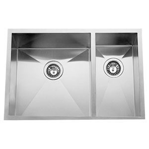 Kelsey Stainless Steel 33-Inch 70/30 Double Bowl Undermount Sink