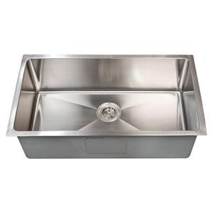 Fabyan Stainless Steel 32-Inch Single Bowl Undermount Kitchen Sink