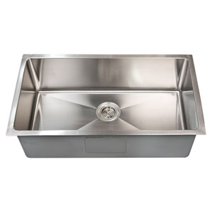 Fabyan Stainless Steel 32-Inch Single Bowl Undermount Kitchen Sink