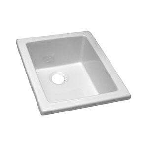 White Fire Clay Utility Sink 18-1/8-Inch x 14-3/8-Inch
