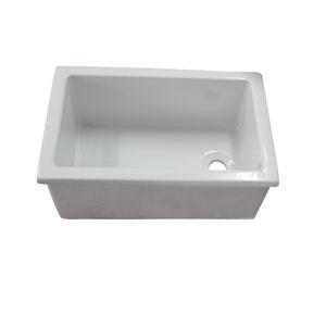 White Fire Clay Utility Sink 23-Inch x 15-Inch
