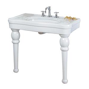 Versailles 8-Inch Spread White Console Sink