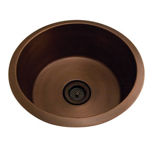 Verona Antique Copper 18-Inch Drum Sink