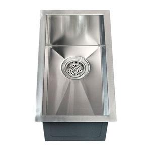 Ophelia Stainless Steel 15-Inch Narrow Undermount Prep Sink