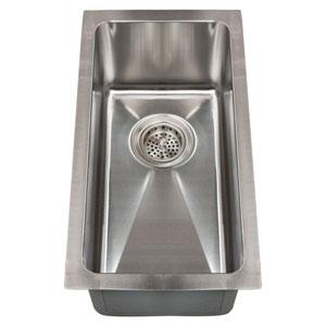 Paule Stainless Steel 11-Inch Narrow Undermount Prep Sink