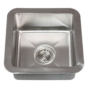 Rena Stainless Steel 15-Inch Square Undermount Prep Sink