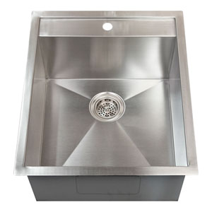Thelma Stainless Steel 19-Inch Drop-in Prep Sink