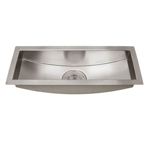 Vedette Stainless Steel 22-Inch Curved Bottom Trough Sink
