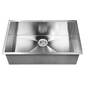 Salome Stainless Steel 23-Inch Undermount Prep Sink