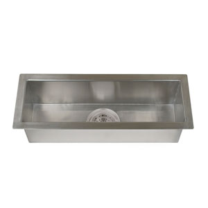 Whitesboro Stainless Steel 32-Inch Zero Radius Trough Sink