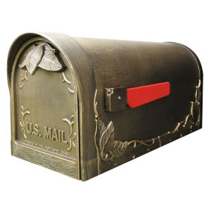 Floral Bronze Curbside Mailbox