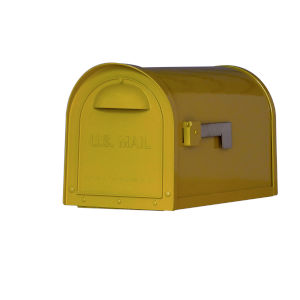 Dylan Yellow Curbside Mailbox
