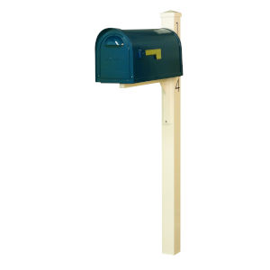 Dylan Blue Curbside Mailbox and Post