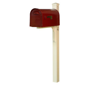 Dylan Wine Curbside Mailbox and Post
