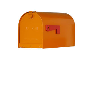 Rigby Orange Curbside Mailbox