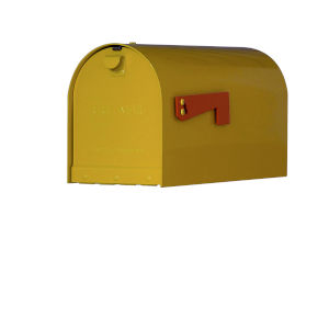 Rigby Yellow Curbside Mailbox