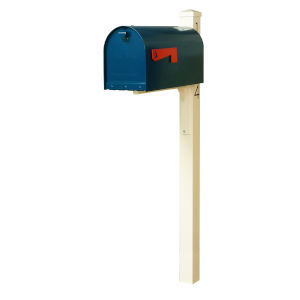 Rigby Blue Curbside Mailbox and Post