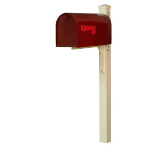 Rigby Wine Curbside Mailbox and Post