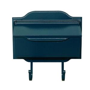 Asbury Blue Horizontal Mailbox