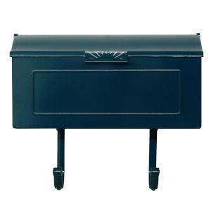 Nash Blue Horizontal Mailbox