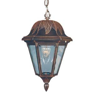 Floral Large Outdoor Hanging Pendant