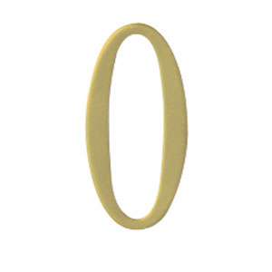 Brass 2-Inch House Number Zero